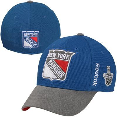 Reebok New York Rangers Playoffs Flex Hat - Royal Blue