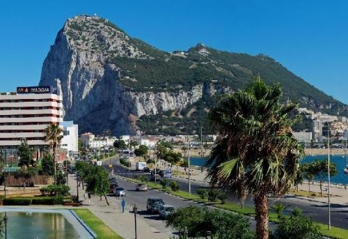 La Linea de la Concepcion, Spain - Gibraltar in the background.