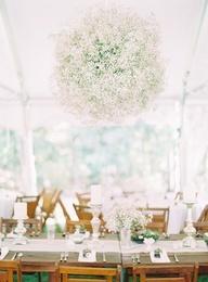 Joskus vauvan kastejuhlat tai syntymäpäivät järjestetään ulkotiloissa. Iso valkoinen paviljonki on näyttävä, mutta silmäni nauliuituivat lisäksi tuohon valkoisilla kukilla koristeltuun pallovalaisimeen: UPEA!