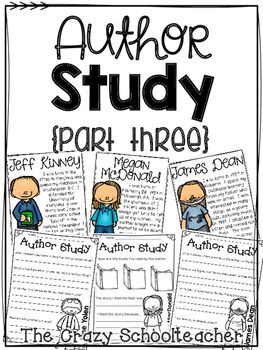 """Author Study - This pack is the perfect way to incorporate an author study into your classroom into a station or a daily 5 choice. It includes a poster for each author with a brief """"about me"""" blurb and two reflection worksheets that allows your students to reflect on the books they have read and choose a favorite for each author. Each reflection sheet has the same layout, which allows the 1st and 2nd grade students to learn the routine and reflect and complete the activities independently."""