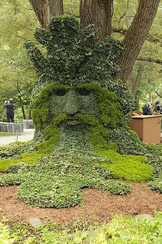 """Spirits of the Forrest - The Green Man"" -  MosaicultureInternationale, Quebec 2013"