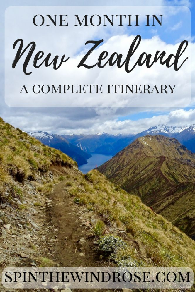 Not sure how to plan your one month trip to New Zealand? This itinerary will show you how to make the most of your visit. Click through to read the full post! | spinthewindrose.com