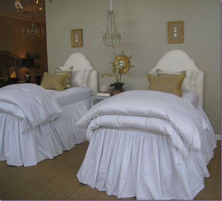 shabby slips austin twin beds....headboard/bedskirts