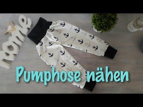Nähanleitung für Anfänger | OHNE Schnittmuster | Pumphose - Nähtinchen - YouTube