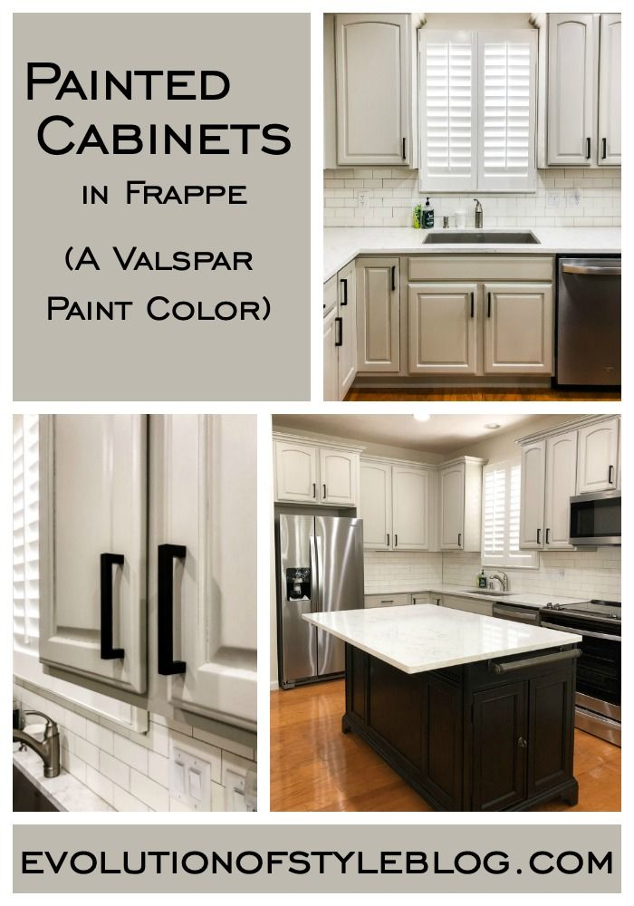 Painted Cabinets in Valspar's Frappe | Painting cabinets ...