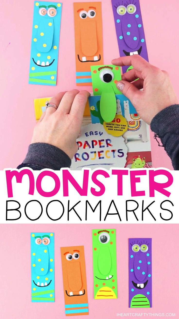 DIY Monster Bookmarks