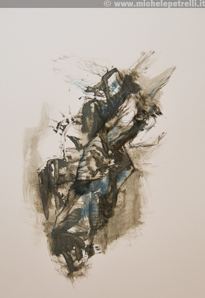 """""""angel"""" - Michele Petrelli - mixed on paper - 2012 - For additional info: http://www.michelepetrelli.it/"""
