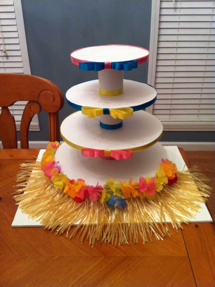 Luau Cupcake stand