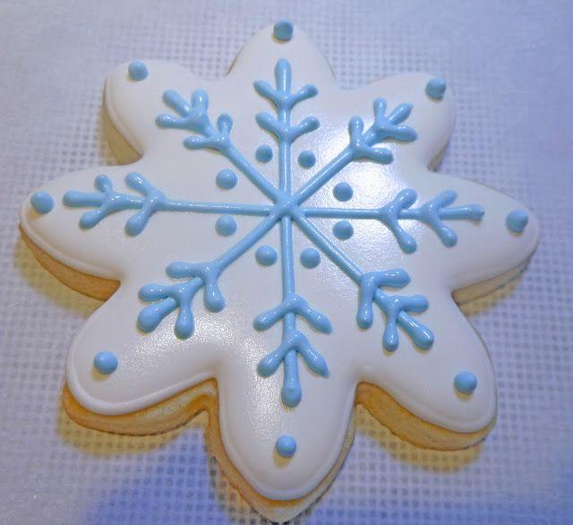 My Cookie Clinic: SNOWFLAKE COOKIES/ Julie & Julia  #cookieart