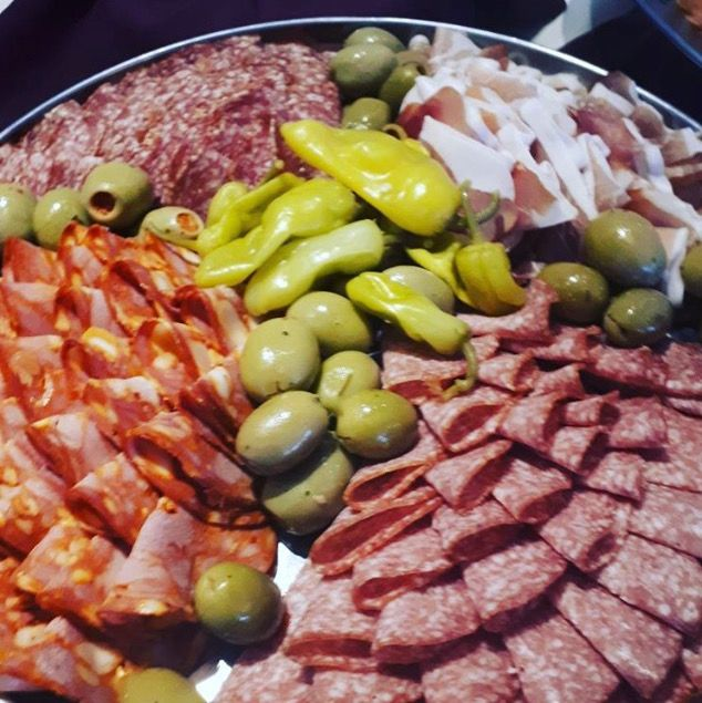 #Savoury platters for the #wedding this weekend #pickles #prosciutto #hotpeppers #salami