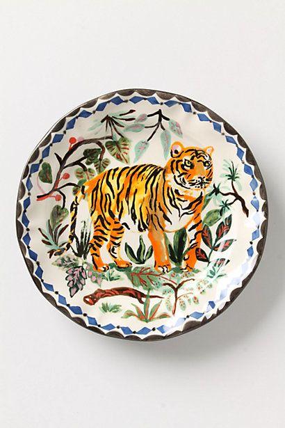 $24 Le Tigre Plate #anthropologie #War Eagle!