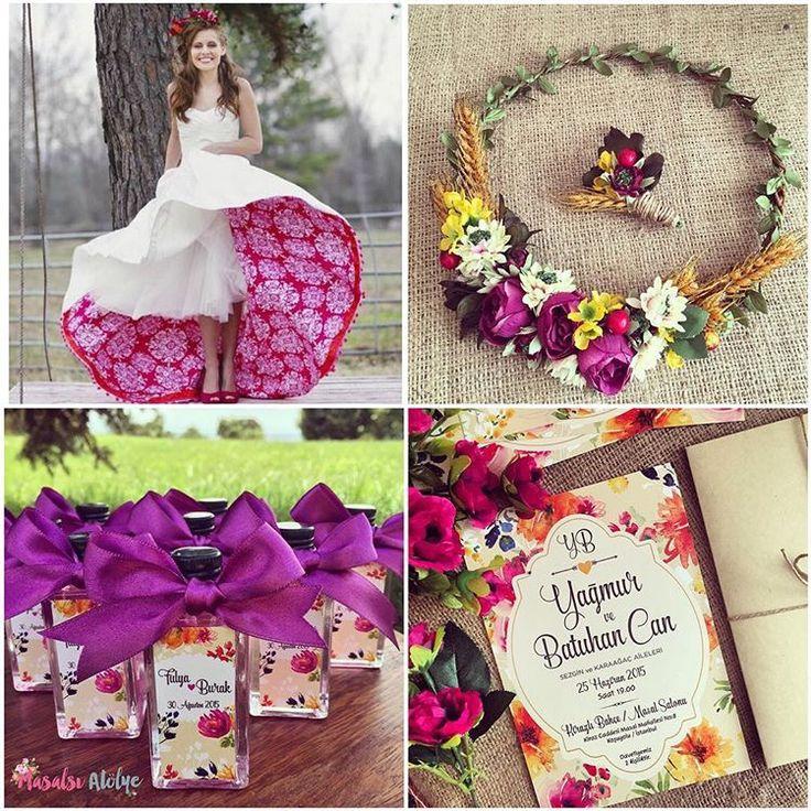 Renkli düğün teması / colorfull wedding theme www.masalsiatolye.com #masalsiatolye #dugunteması #weddingtheme