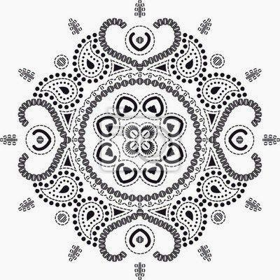 Mandala Wall Art Murals Lotus Flowers
