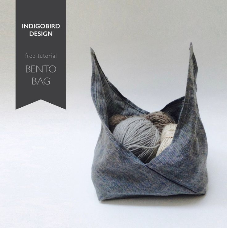 DIY Bento BagThis is a really good tutorial for beginner sewers because you start with a rectangle that you fold and then sew. You can make this DIY Origami Bento Bag in any size you want because you start with a piece of fabric where the length is 3 times the width. Length = 3 x WidthThe Tutorial for this DIY Bento Bag from indigobird can be found here.
