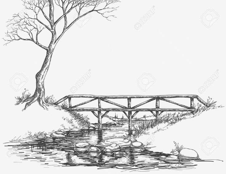D Line Drawings Ikea : Pencil line drawing river google search spring