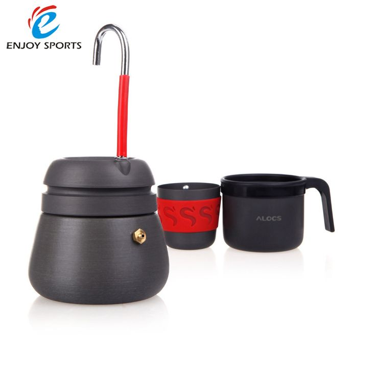 Portable Outdoor Anodized Aluminum 2 Cups Coffee maker