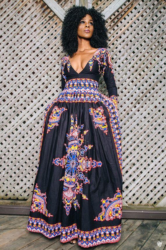VICTORIA  African print dress