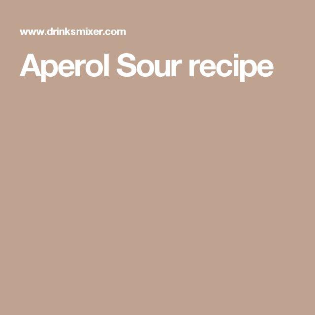 Aperol Sour recipe