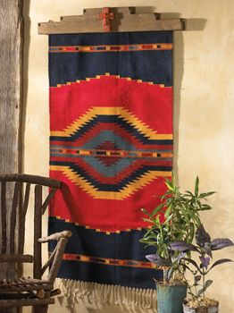 flagstaff fiesta rug - I love the way it's mounted