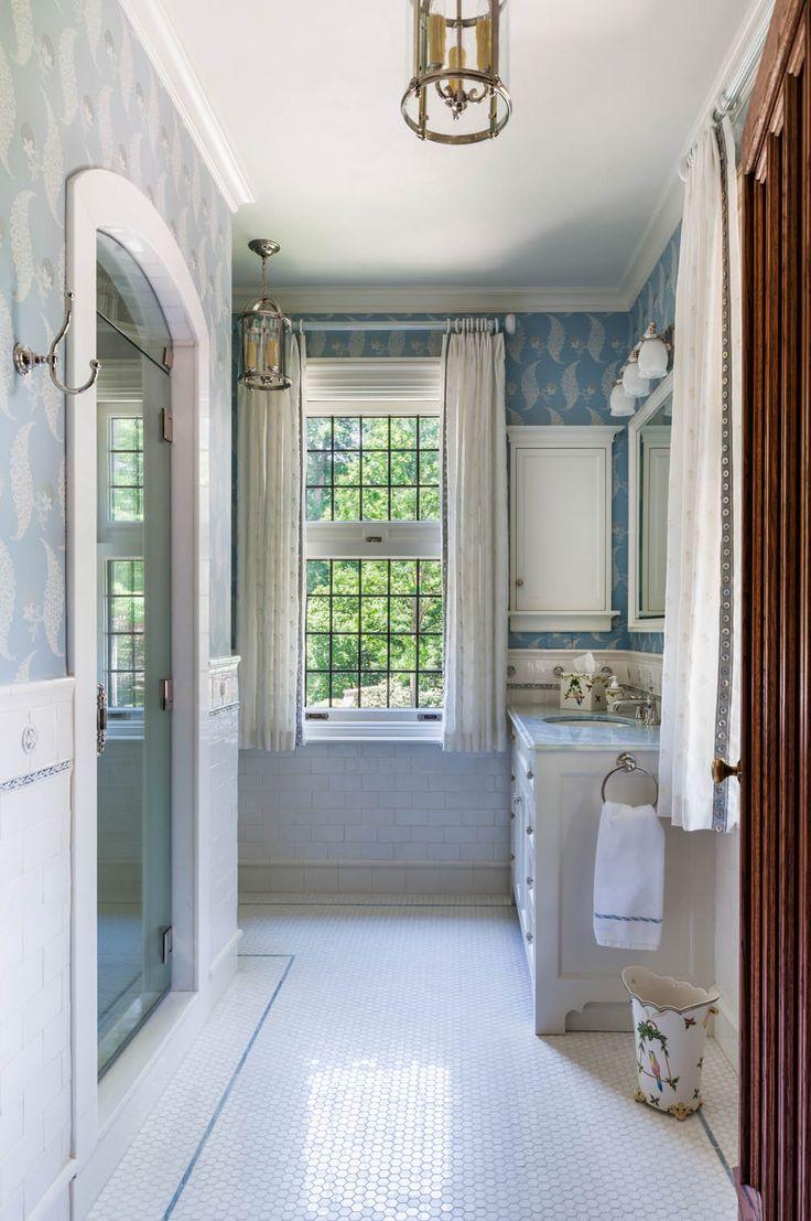 Dressing room with bathroom design - Simple Elegant And Bright A Perfect Guest Bath Bathroom Laundrybathroomsguest Bathdressing Rooms