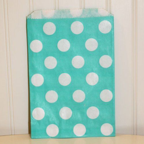 "Dress My Cupcake 96-Pack Favor Bags, Aqua with White Dots by Dress My Cupcake. $45.44. Pair this with other best-selling Dress My Cupcake products, such as cupcake wrappers and liners, stands, tissue pom poms, and vintage paper straws"". ""Favor bags are perfect for weddings, birthdays, baby showers, candy buffets and more A great way to add flare to your event. Bags have a flat pinched bottom with no side gusset. Favor Bags are biodegradable - Perfect for the event planner. Di..."
