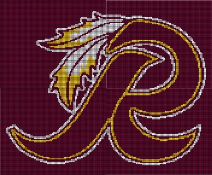 Washington Redskins Crochet Pattern Afghan Graph, USD3.5 ...
