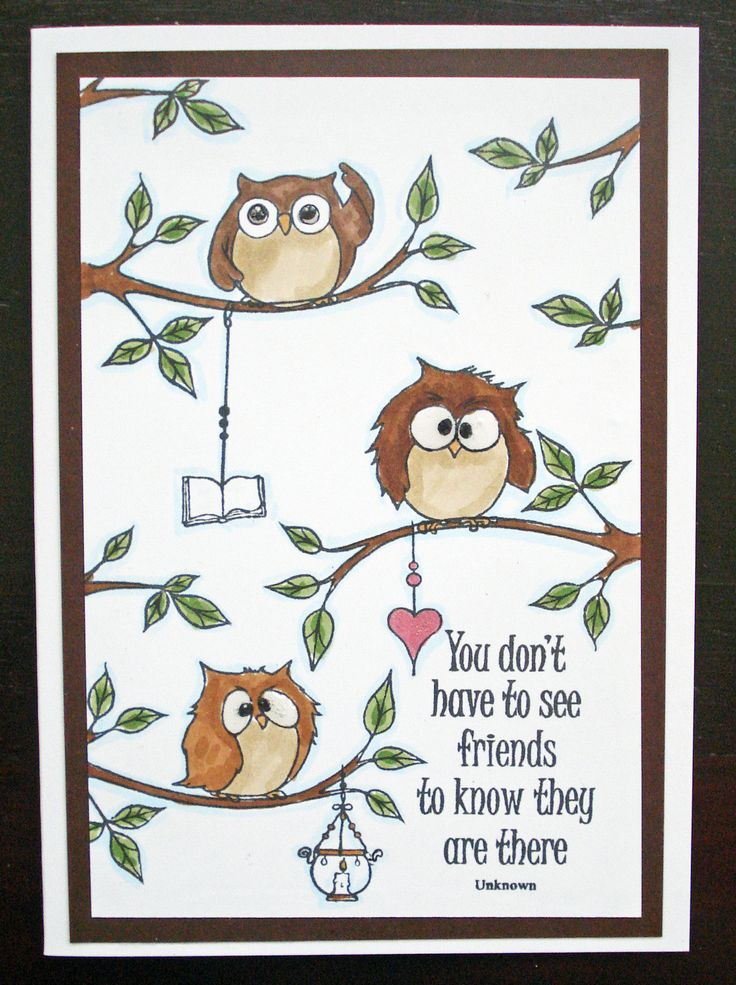 This Gorgeous card was made by Georgina Ford using Hobby Arts stamp set Owls