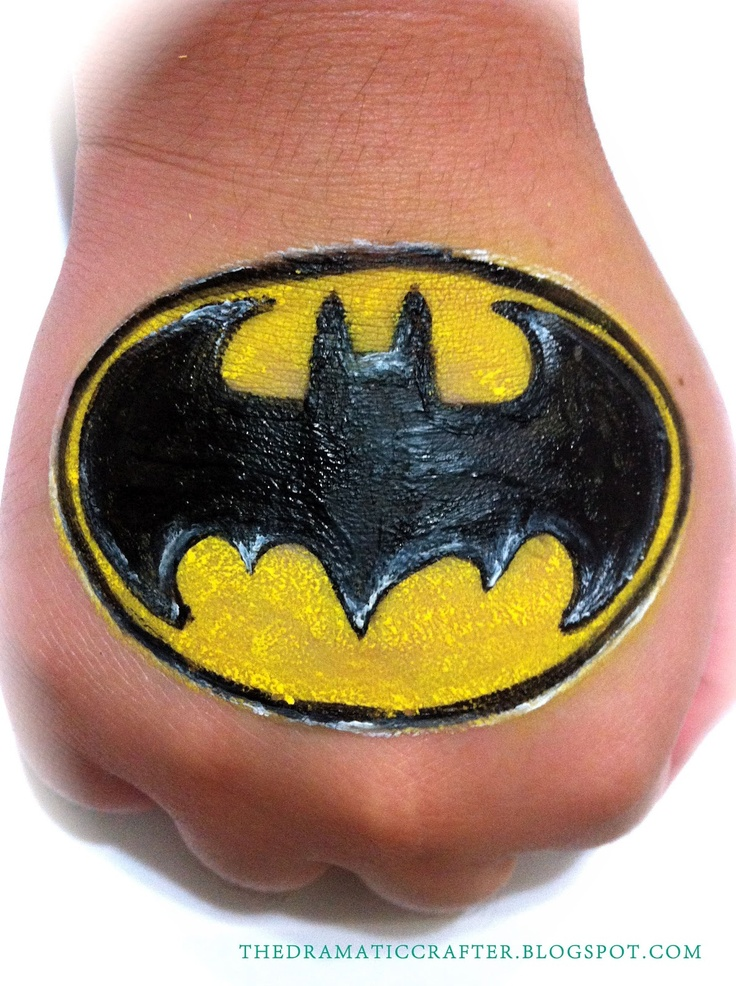 Batman hand painting that would work as cheek art in a smaller size.