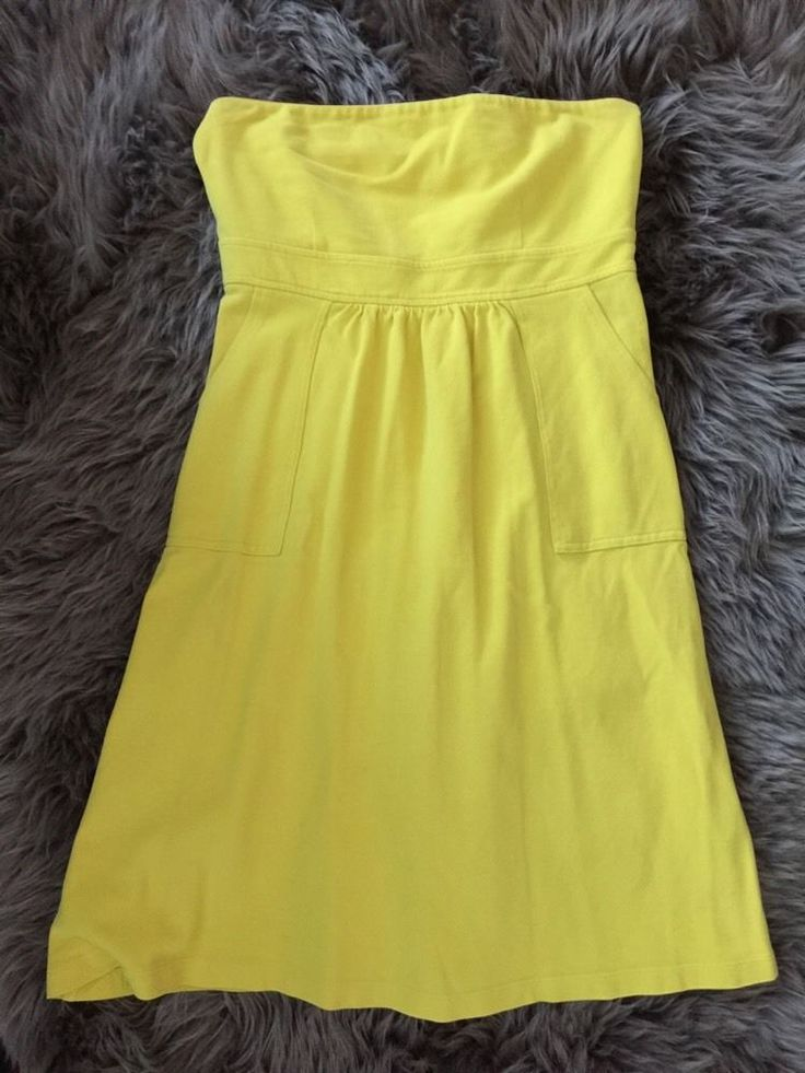 J. Crew Yellow Strapless Dress Women's Sz 6* in Clothing, Shoes & Accessories, Women's Clothing, Dresses | eBay
