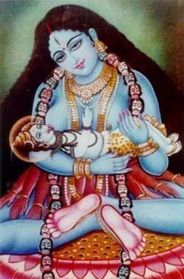 Kali and infant Shiva