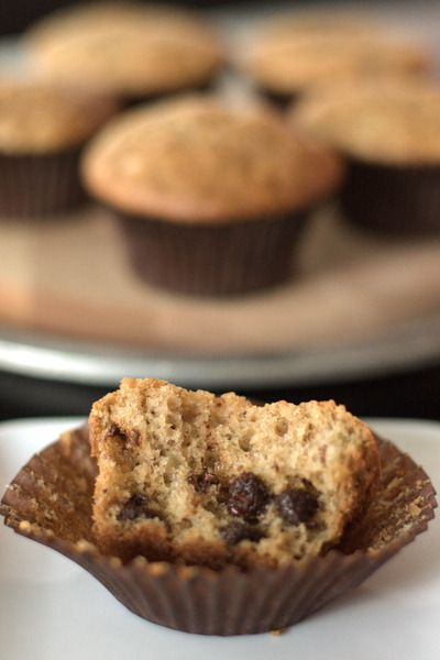 Banana Muffins: With Chocolate Chips & Sourdough