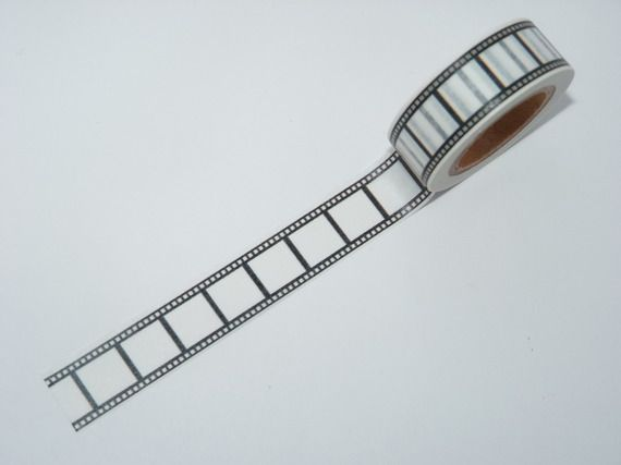 Masking Tape  pellicule cinéma W201 scrapbooking fun design planner designmotifs Noir et blanc  pellicule film cadeau