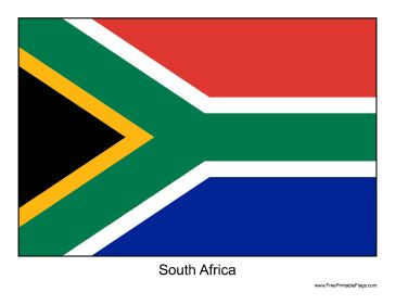 The flag of South Africa. Free to download and print
