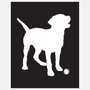 Labrador Silhouette Black now featured on Fab. Here's another one of my illustrations. I just want to go home and play with him!