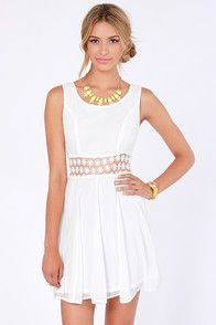 Collection White Casual Dresses For Juniors Pictures - Reikian