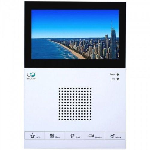 """True IP Systems TI-2760CW TI-2760CW TRUE-IP TI-2760CW - видеодомофон. Важная особенность модели – ультратонкий дизайн, толщина корпуса составляет всего 16.1 мм. IP-монитор оборудован 7"""" дисплеем емкостного типа с разрешением 800х480 точек. Для быстрого управления имеются 5 механических клавиш. Устройство обеспечивает прием вызова и двухстороннюю связь с IP вызывными панелями, другими IP-мониторами (интерком) или пультом консьержа. Модель может осуществлять запись аудио, фото и видео с IP…"""