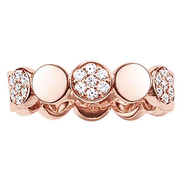 £125 Thomas Sabo Glam & Soul Sparkling Circles Ring, Rose Gold, N Online at johnlewis.com