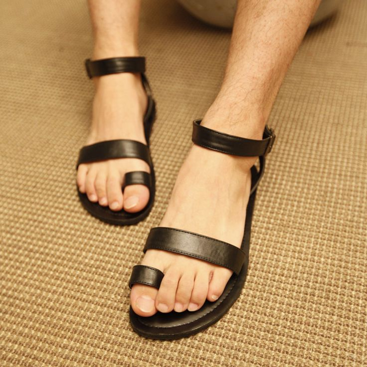 E . man shoes the trend of fashion male sandals genuine leather gladiator male fashionable casual sandals shoes $35.59