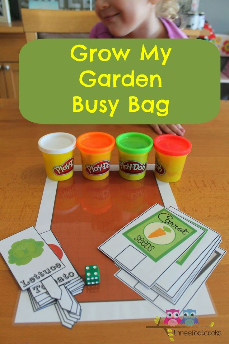 Grow my garden busy bag for 5 6 year olds home school for Gardening tools for 6 year old