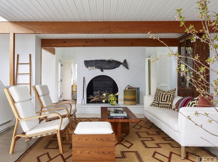HOUSE TOUR: A Serene Marthau0027s Vineyard Getaway With A Playful Side.  Minimalist Living RoomsDesign ...