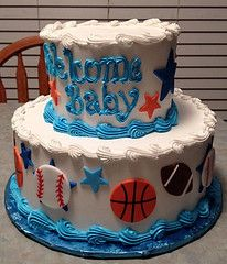 Sports Baby Shower 1-2 (Grace-ful Cakes) Tags: cakes sports basketball stars foo…