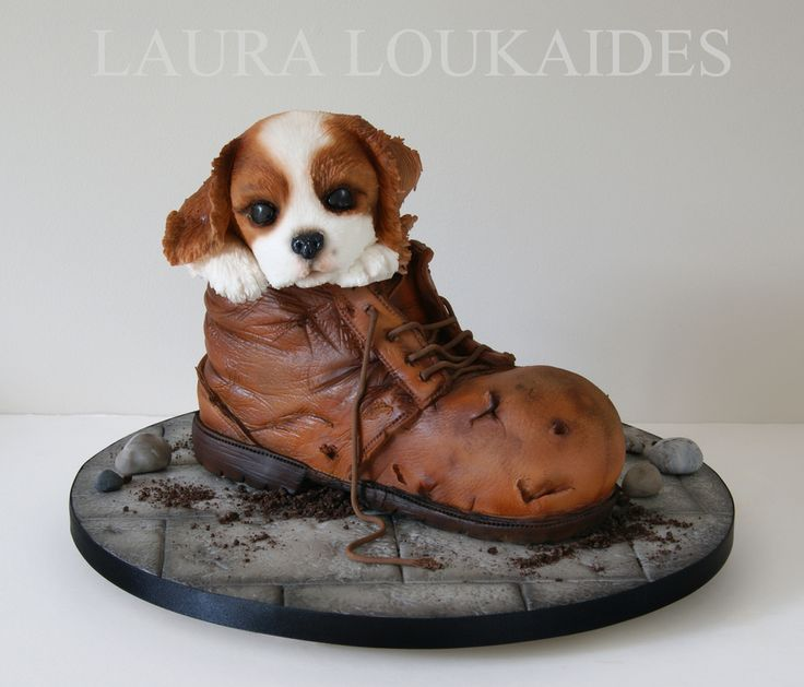 """""""Charlie and his Boot"""" by Laura Loukaides Cakes #lauraloukaides"""