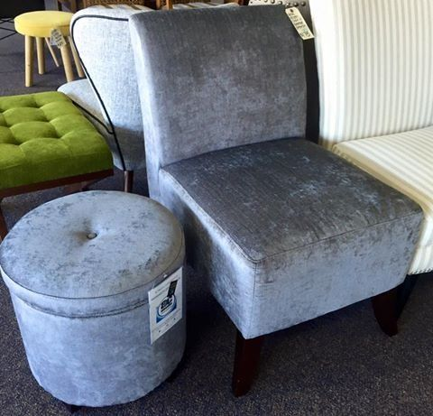 Brand new grey accent chair with a matching storage ottoman. Only $175! <br> <br>This item is located at:   <br><b>Yesterday's Galleria  <br>2770 Piney Green Road   <br>Midway Park, NC <br>(By the Railroad Tracks)   <br>(910)238-2542 </b>  <br> <br>Monday-Saturday 10a-7p <br>Sunday 11a-6p <br>  <br>Check out our other items!   <br>Not all of our items are listed, so be sure to stop in! <br>We also have home decor, electronics, military surplus, video games and systems, antiques, jewelry…