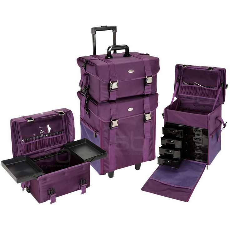 2 in 1 Professional Rolling Makeup Case Set with Drawers