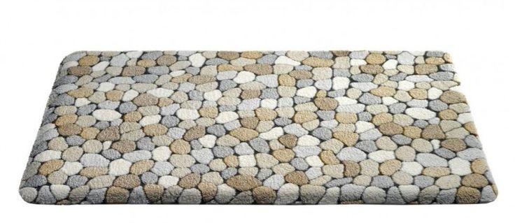 Caresse - koupelnová předložka, 50x85 cm (dekor kamínků, béžový)