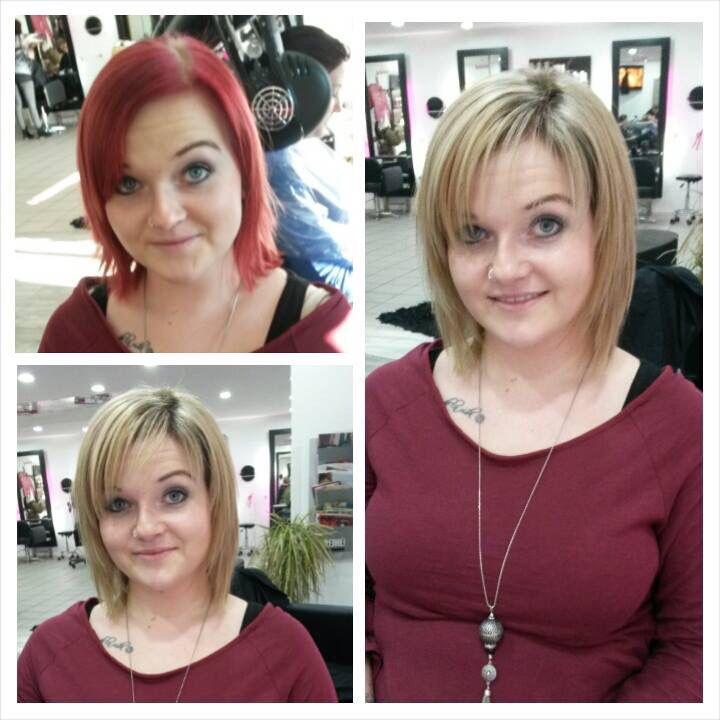 #olaplex  Von rot auf blond - eine Behandlung