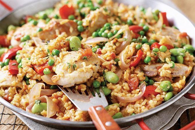 Paella Au Poulet Au Cookeo Cookeo Recette En 2020 Paella Au Poulet Recettes De Cuisine Plat Typique Espagnol