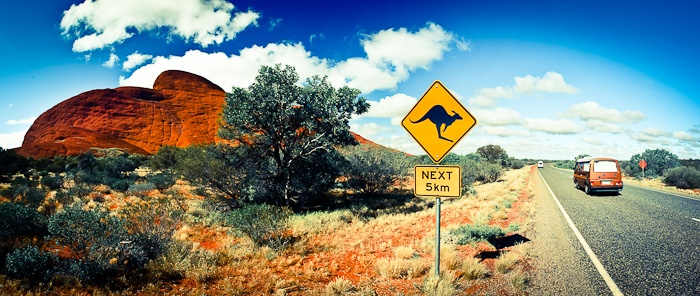 Roadtrip  Uluru-Kata Tjuta National Park, Northern Territory, Australia    Many fly across the country to visit this part of Australia but some make it an adventure and journey there in their automobiles.