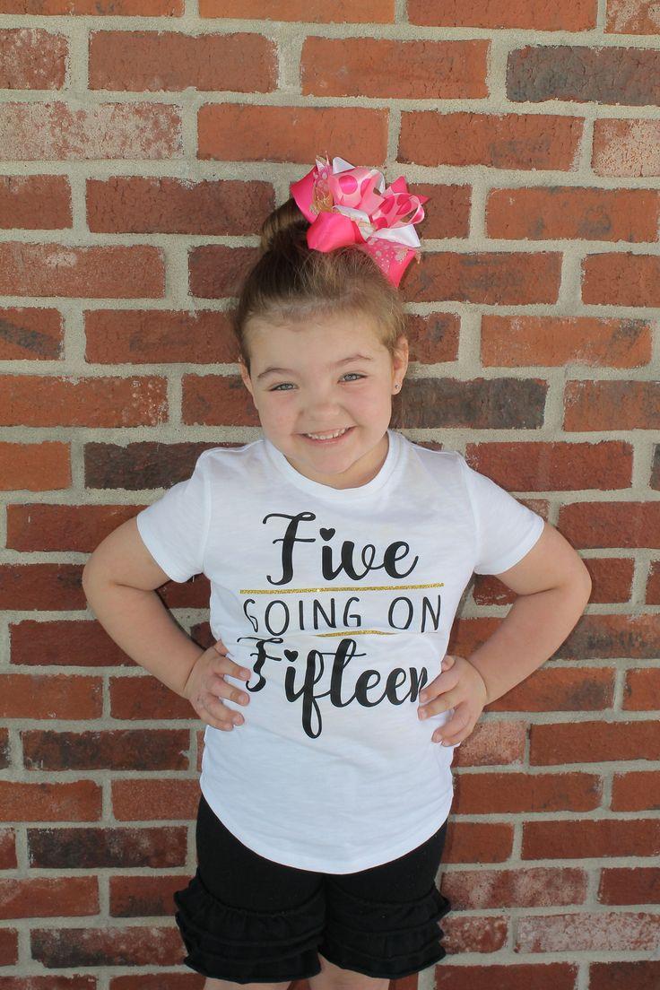 5 year old birthday shirt girl