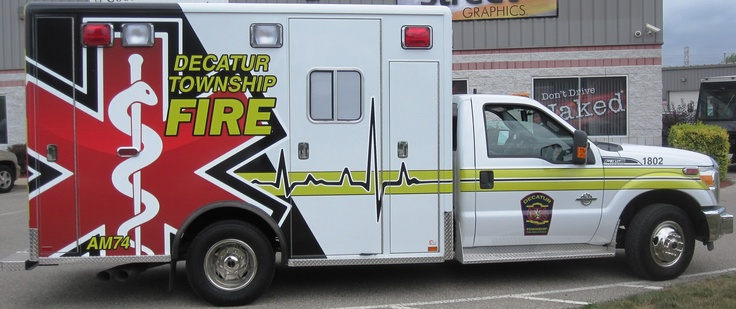 Good Decatur Township Fire Department / EMS Graphics / Ambulance Graphics /  Vehicle Graphics / Indianapolis /